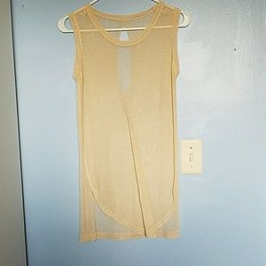 Other - Tan see through swimsuit cover up